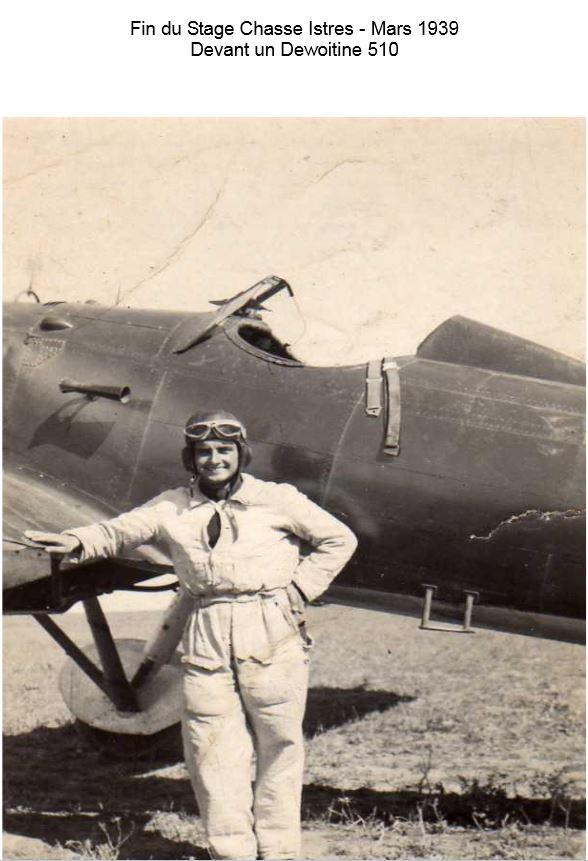 Gabard devant son Dewoitine 510Meknès 1939
