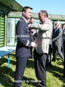 Passage de témoin entre CASTEL dernier CDT sur JAGUAR et le LCL GRAND nouveau CDT du 1/11.