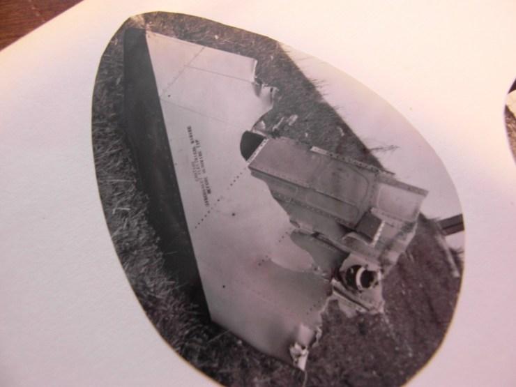 L'aile gauche du F100 ; le morceau qui n'a pas été ramené