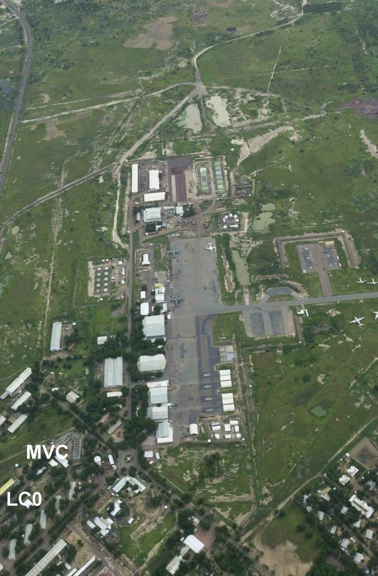 Plan de la base avec en bas à gauche les emplacements MVC et LC 0