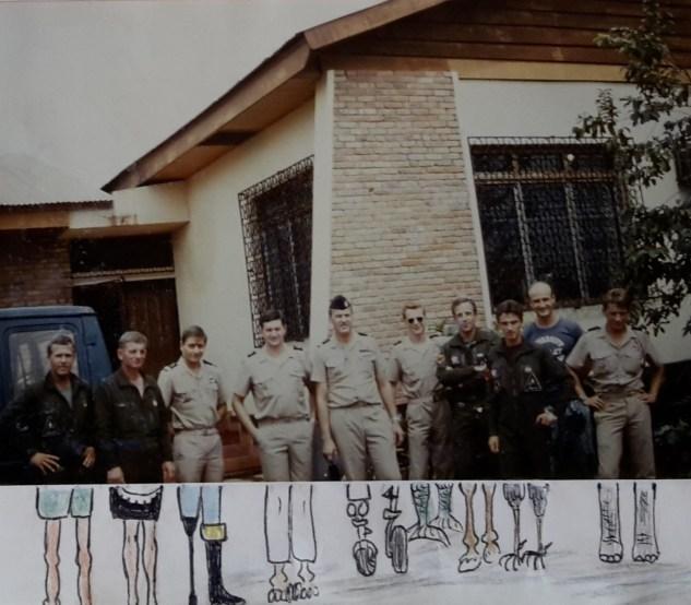 1987 DETAM Bangui. Photo prise à la villa des pilotes