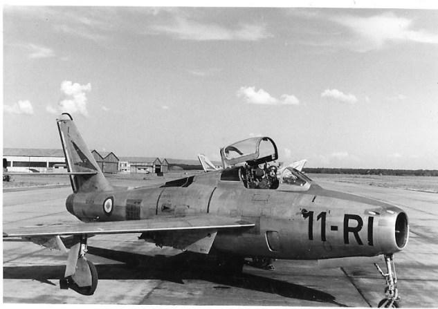 H.HAY sur F84F à Luxeuil