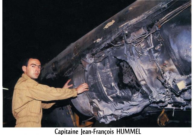 Le capitaine Hummel devant le A 91