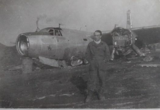 Luxeuil dec 1944 Reste d'un Marauder