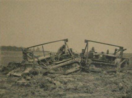Bulldozers en action sur Rosy