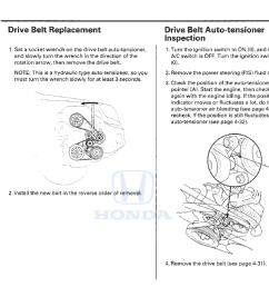 drive serpentine belt replacement is a beast honda pilot honda belt replacement as well 2006 honda pilot serpentine belt diagram [ 1800 x 708 Pixel ]