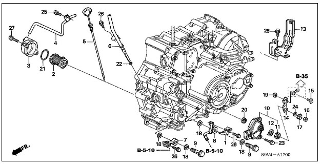 Wiring Diagram Database: 2006 Honda Pilot Serpentine Belt