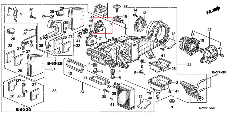 dead mouse under center console heater box...need advice