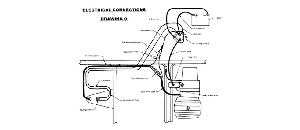 honda odyssey atv wiring diagram jvc kd r300 goki electric start kit fl250 1977-84