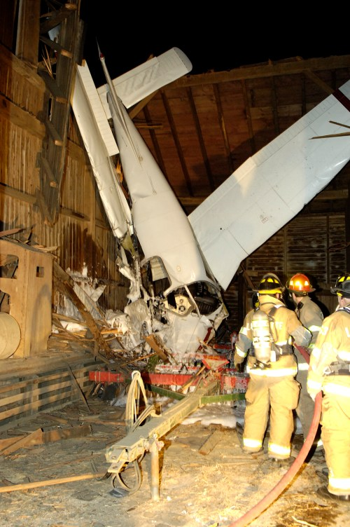 small resolution of on saturday january 28 a piper warrior that witnesses said was wobbling and shaking crashed into a barn near lancaster pa injuring the