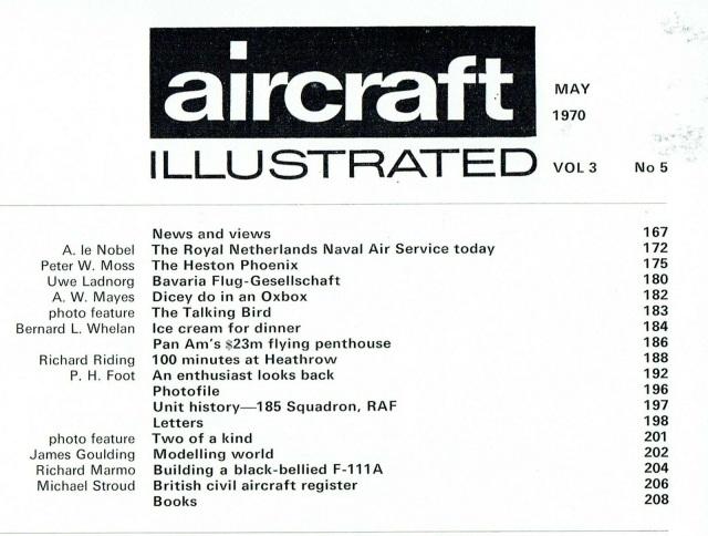 AIRCRAFT ILLUSTRATED MAY 1970 DOWNLOAD: DUTCH NAVAL AIR