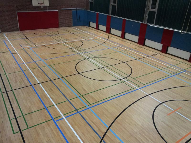 Sportboden Spielfeldmarkierung  Spielfeldmarkierungen und