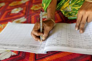 Entering data in Bangladesh