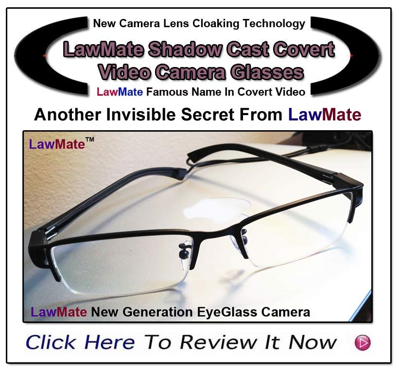 New Covert Video Eyegalsses Or Sunglasses With Shadowcasting Technology from LawMate- www.pimall.com/nais