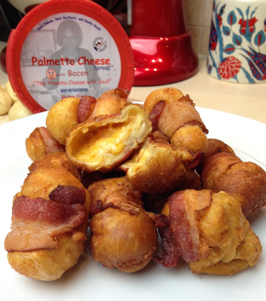Palmetto Pimento Cheese Bacon wrapped cheeseballs