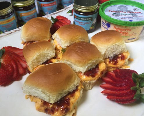 Hawaiian Rolls with PC and Strawberry Vanilla Spread