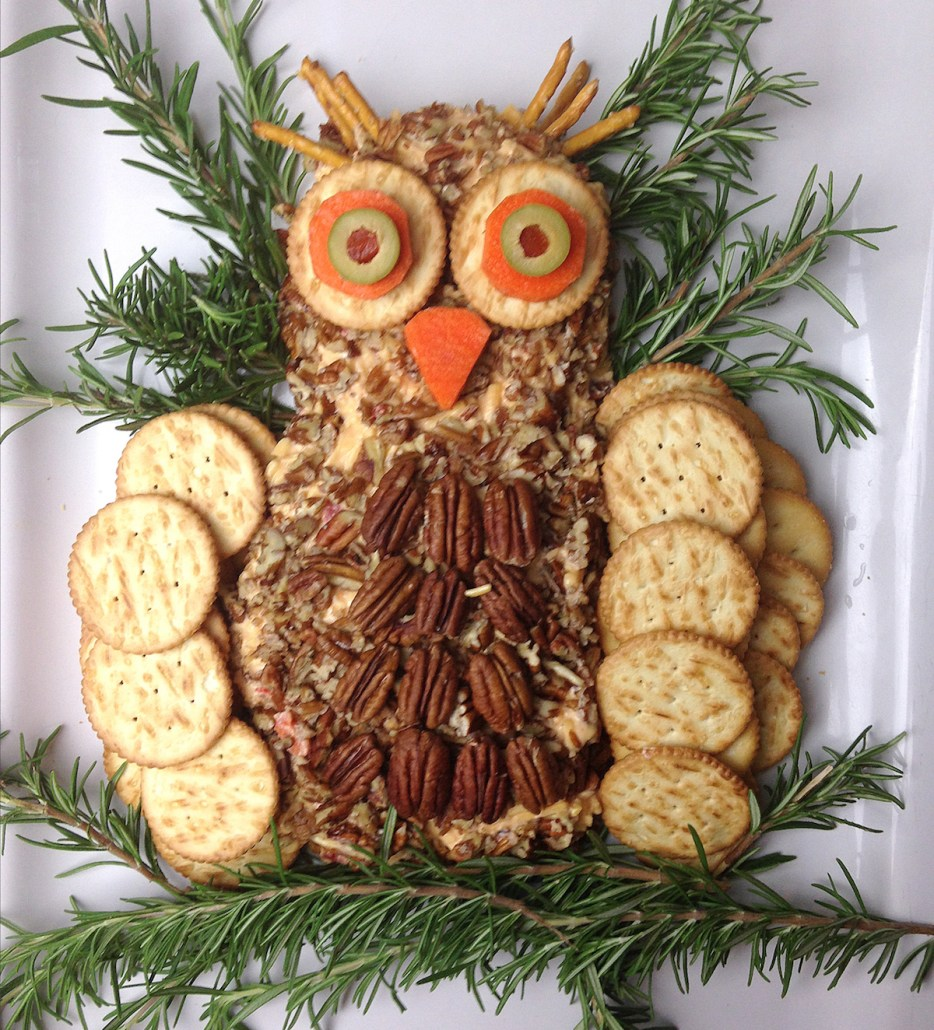 Palmetto Pimento Cheese Owl Cheeseball