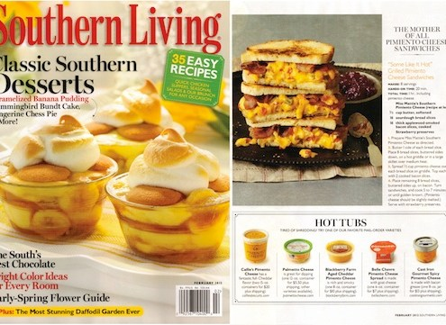 Palmetto Cheese in Southern Living Magazine and southernliving.com