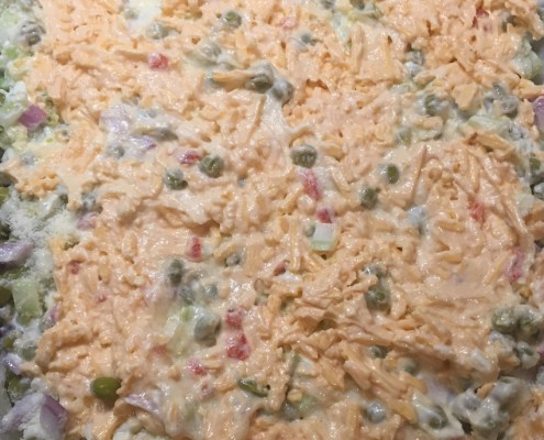 Palmetto Cheese Pea Salad