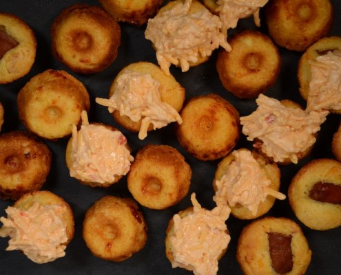Palmetto Cheese Mini Corndog Muffins