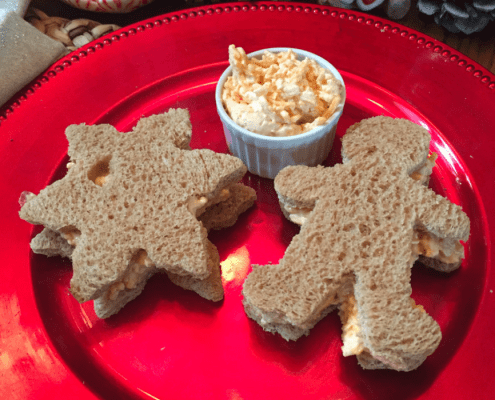 Palmetto Cheese Pimento cheese Christmas Sandwiches