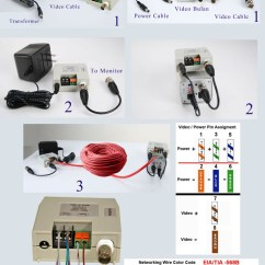 Cat5 Connector Wiring Diagram Gooseneck Trailer Light Passive Video Balun (terminal Type) For Ccd Cameras, Power Converted - Camera Side Pi ...