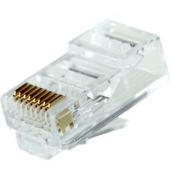rj45 cat6 long body modular plug for round solid or stranded wire cable 50pcs bag pi manufacturing [ 1250 x 1250 Pixel ]