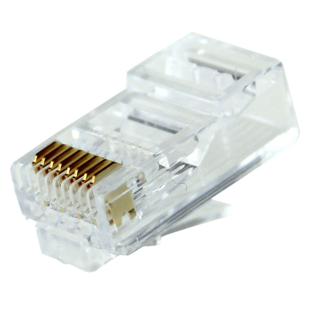 medium resolution of rj45 cat6 long body modular plug for round solid or stranded wire cable 50pcs bag pi manufacturing
