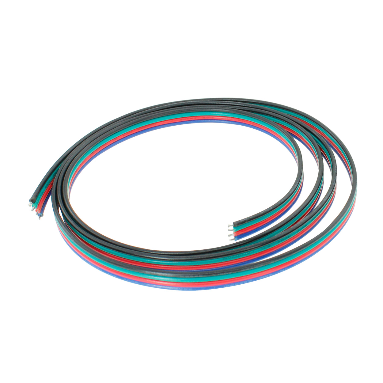 4 wire 18awg power cable for rgb led light strips 20 meter 66ft pi manufacturing [ 1250 x 1250 Pixel ]