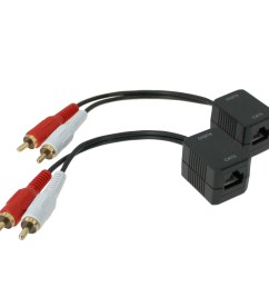 rca audio l r extender over ethernet cable up to 250ft pi manufacturing [ 1250 x 1250 Pixel ]