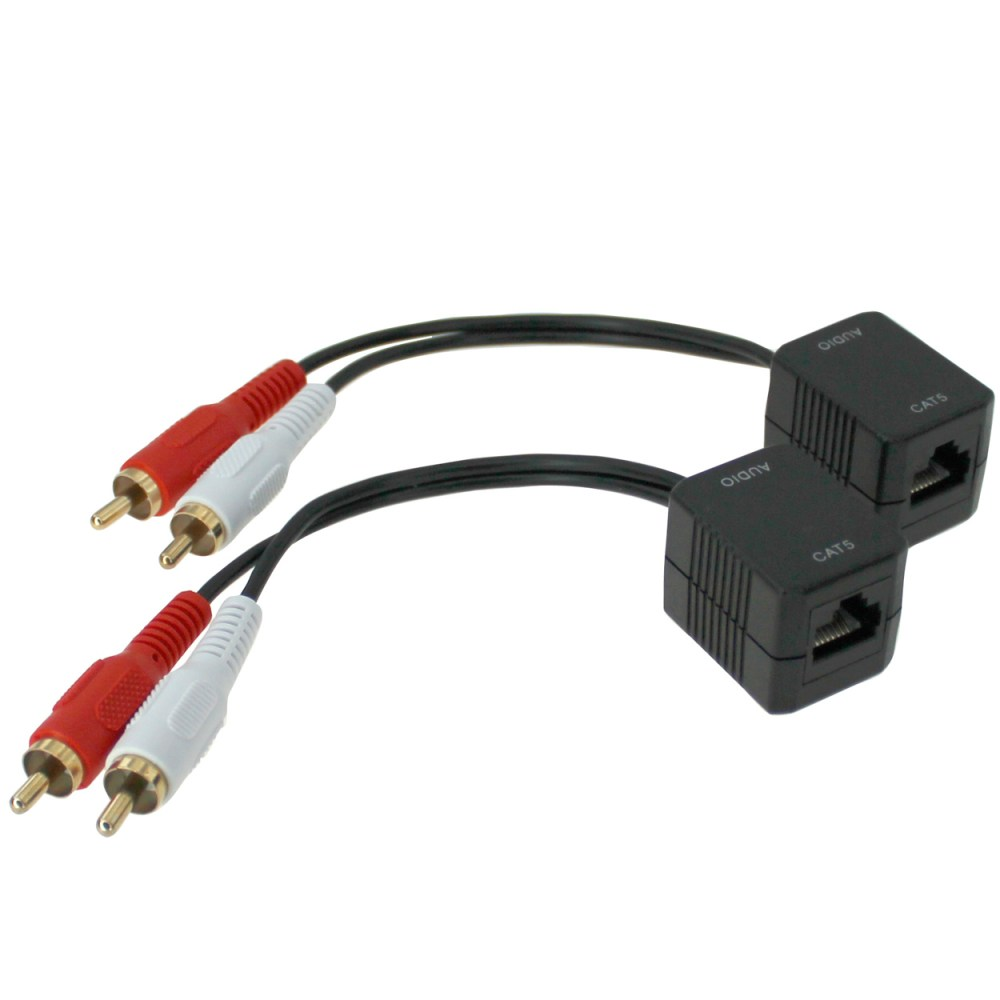 medium resolution of rca audio l r extender over ethernet cable up to 250ft pi manufacturing