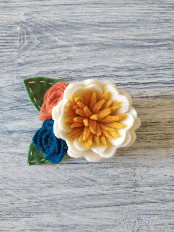 Colección Autumn - clip para el pelo bouquet flores | Pimienta y Purpurina