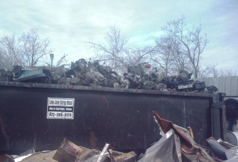 Lawn Mower Engines at Scrap Metal Yard