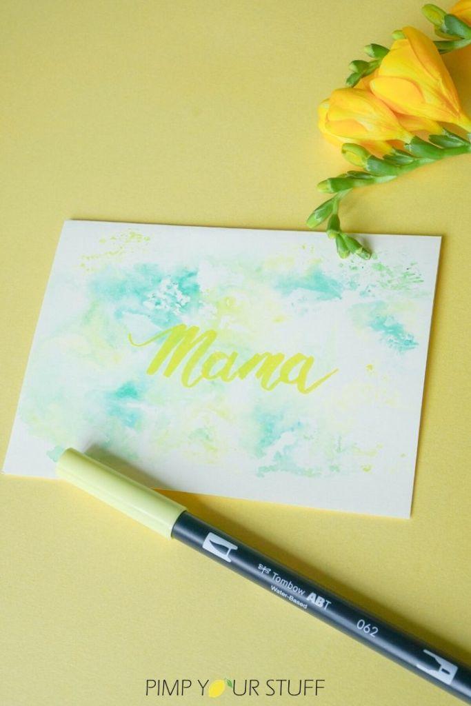 DIY Muttertagskarte zum selber machen