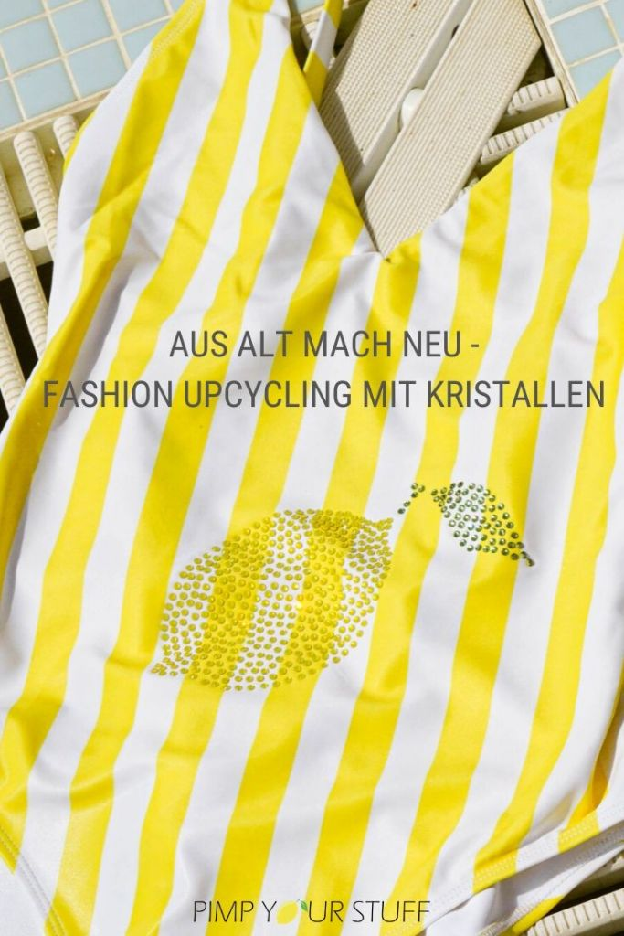 aus alt mach neu - DIY Fashion Upcycling - Thrift Flip - Badanzug mit Kristallen