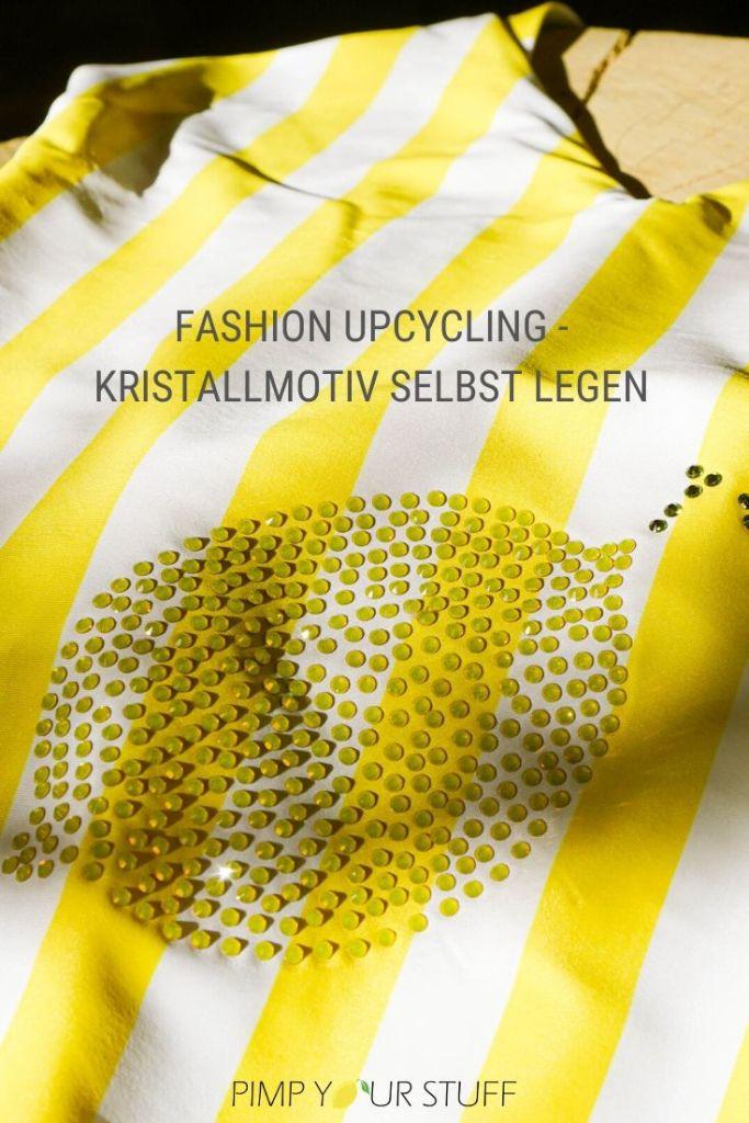 aus alt mach neu - Kristallmotiv selbst legen - Fashion Upcycling