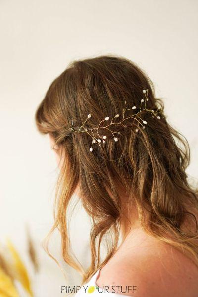 Braut Haarschmuck für die Hochzeit selber machen Anleitung