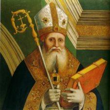 Marco Palmezzano (Forlì, 1459 - 1539), Sant'Ambrogio (?)