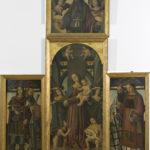 Giovanni Battista Bertucci sr., Madonna col Bambino, e Angeli con i SS. Giovannino, Ippolito, Benedetto, Lorenzo e Romualdo; nella cimasa Padre Eterno