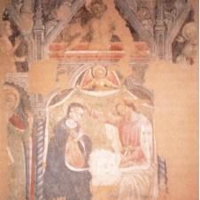 Maestro di San Pier Damiano (sec. XV), Incoronazione della Vergine e Santi, Cristo morto e Annunciazione