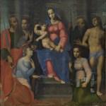 Sigismondo Foschi, Madonna col Bambino e i SS. Paolo, Giovanni Battista, Benedetto (?), Sebastiano, Caterina e Apollonia