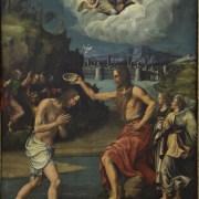 Luca Scaletti (Faenza, documentato dal 1531 al 1555), Battesimo di Cristo