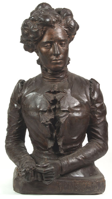 Domenico Baccarini, Bust of a woman with hands folded (Thought)