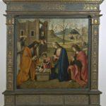 Giovanni Battista Bertucci sr., Natività con i SS. Girolamo, Giovannino, Giovanni Evangelista e Bernardino da Siena