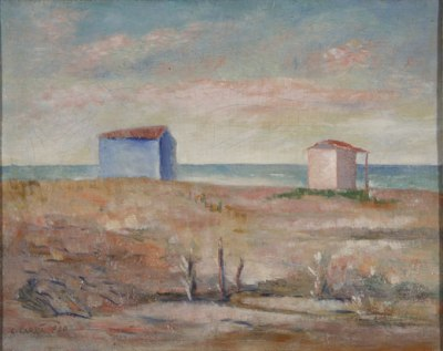 Carlo Carrà, Marina a Forte dei Marmi, 1940