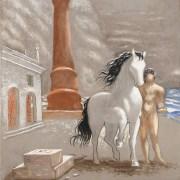 Giorgio De Chirico (Volos, 1888 - Roma, 1978), Le rive della Tessaglia
