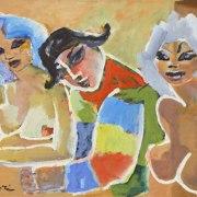 Mino Maccari (Siena, 1898 - Roma, 1989), Le amiche di Arlecchino