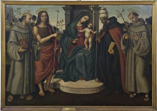 Virgin with Child and Saints Bernardino of Siena, John the Baptist, Pope Celestine and Anthony of Padua