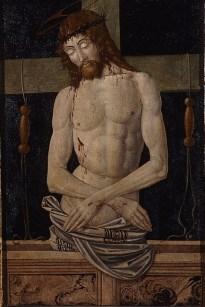 Maestro della pala Bertoni (Faenza, seconda metà sec. XV), Cristo in Pietà