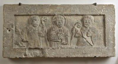Anonimo romanico Sec. XII, Cristo benedicente e i SS. Egidio Abate ed Eutropio Vescovo